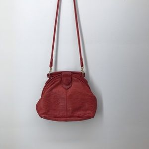 Vintage Leather Embossed Crossbody Bag